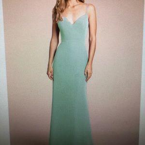 Sage Hayley Paige Bridesmaid Dress!